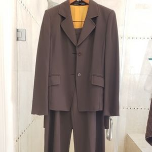 3Piece Brown Ellen Tracy Suit